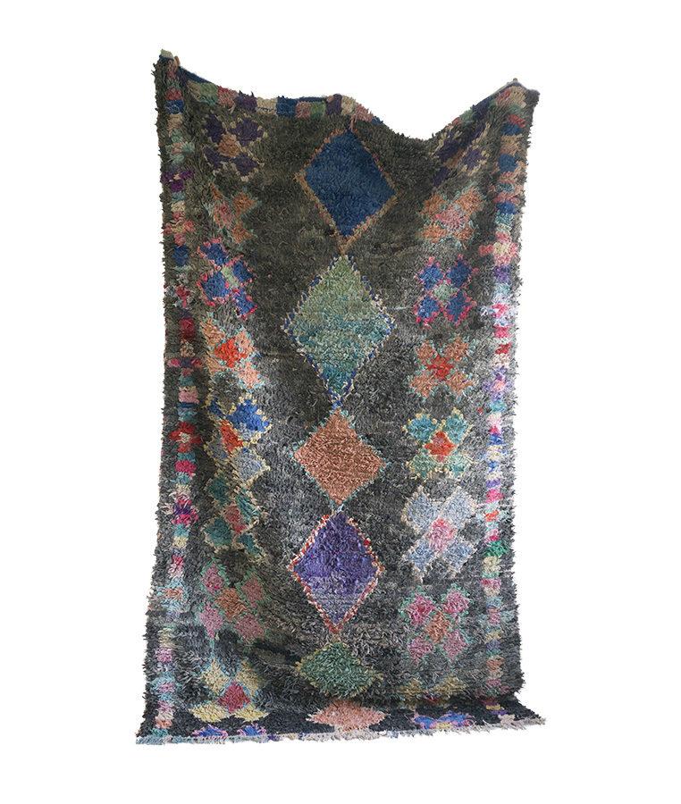 boucherouite carpet faded lilies